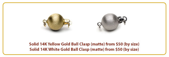 Yellow White Matte Gold Ball
