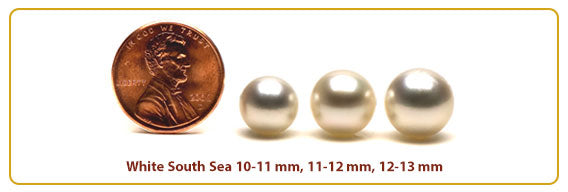 Golden South Sea Pearl Sizes