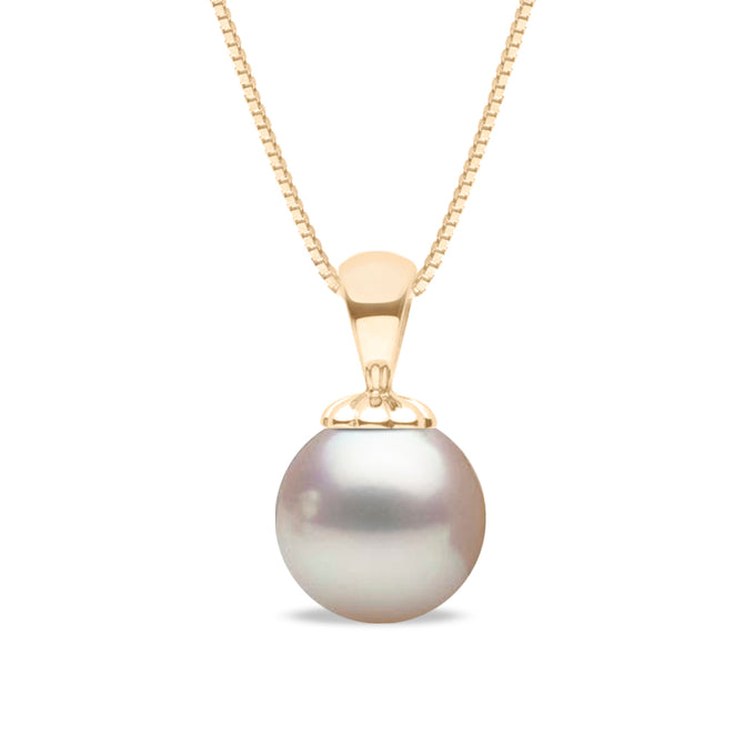 AAA Quality White Akoya Obsession Pendant, 6.0-9.5mm