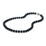 AA+ Quality Black Akoya Pearl Necklace, 7.0-7.5mm