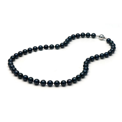 AA+ Quality Black Akoya Necklace, 7.5-8.0mm