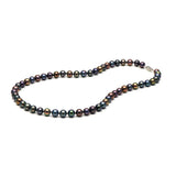 AA+ Quality 7.0-8.0mm Black Freshwater Cultured Pearl Necklace