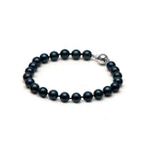 AA+ Quality Black Akoya Bracelet, 7.0-7.5mm