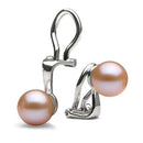 AAA Quality Pink Freshwater Clip-On Earrings, 6.0-11.0mm