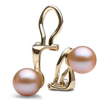 Pink Freshwater Clip-On Earrings, 6.0-11.0mm