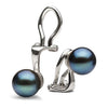 AAA Quality 6.0-11.0mm Black Freshwater Pearl Clip-On Earrings