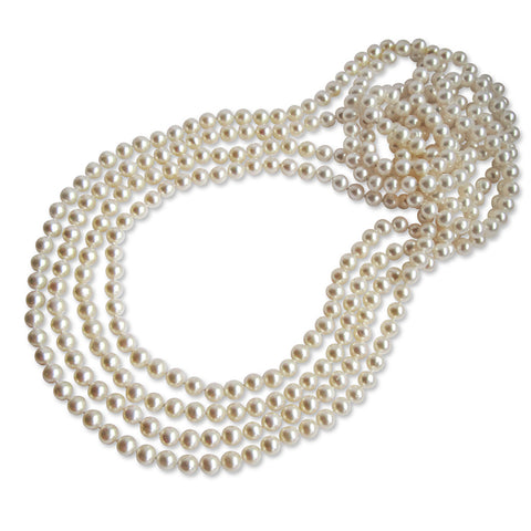 AA+ Quality 6.5-7.0mm Freshwater Pearl Necklace - 100 inch