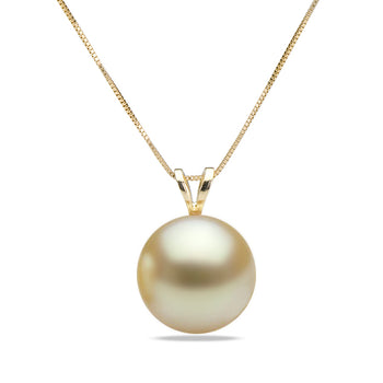 AAA Quality Golden South Sea Desiree Pearl Pendant, 8.0-15.0mm