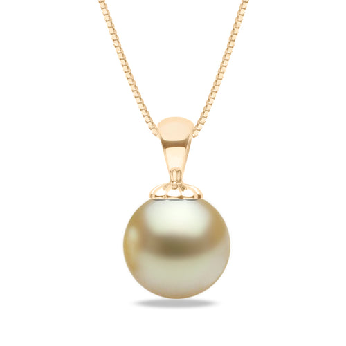 AAA Quality Golden South Sea Obsession Pendant, 9.0-15.0mm