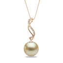 AAA Quality Golden South Sea Serenity Pearl Pendant, 8.0-15.0mm