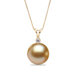 AAA Quality Golden South Sea Victoria Pearl Pendant, 9.0-15.0mm