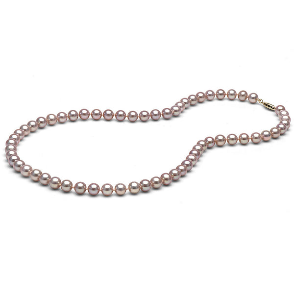 6.0-7.0mm Lavender Freshwater Gem Grade Pearl Necklace
