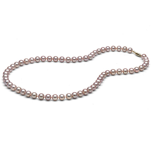 AAA Quality 6.0-7.0mm Lavender Freshwater Orient Pearl Necklace