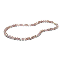 AAA Quality 7.0-8.0mm Lavender Freshwater Cultured Pearl Necklace