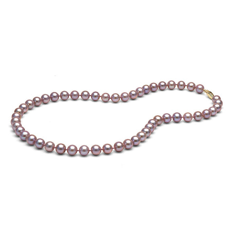 AAA Quality 7.0-8.0mm Lavender Freshwater Orient Pearl Necklace