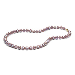 7.0-8.0mm Lavender Freshwater Gem Grade Pearl Necklace