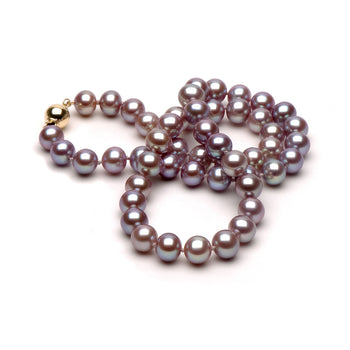 Lavender Freshwater Gem Grade Necklace, 9.5-10.0mm