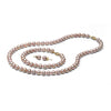 AA+ Quality 6.5-7.0mm Lavender Freshwater Cultured Pearl Set