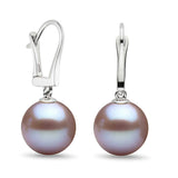 Lavender Freshwater Gem Grade Dangle Earrings, 6.5-11.0mm