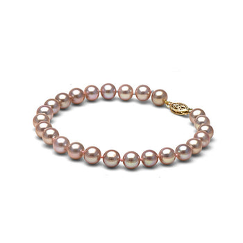 AA+ Quality Lavender Freshwater Bracelet, 6.5-7.0mm