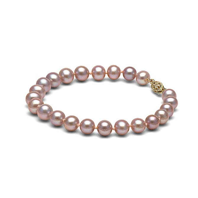 AA+ Quality Lavender Freshwater Bracelet, 7.5-8.0mm
