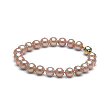 AA+ Quality Lavender Freshwater Bracelet, 9.5-10.5mm