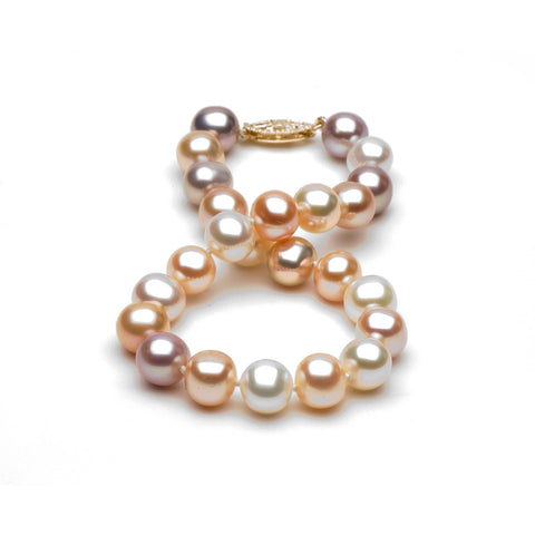 AA+ Quality 7.0-8.0mm Multi-Colored Freshwater Cultured Pearl Bracelet