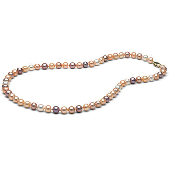 Multi-Color Freshwater Gem Grade Necklace, 6.5-7.0mm