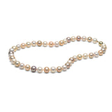 AAA Quality 8.0-9.0mm Natural Multi-Colored Freshwater Cultured Pearl Necklace