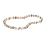 AA+ Quality Multi-Color Freshwater Necklace, 8.5-9.0mm