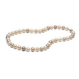 AA+ Quality 8.0-9.0mm Natural Multi-Colored Freshwater Cultured Pearl Necklace