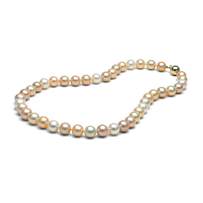 AA+ Quality Multi-Color Freshwater Necklace, 9.5-10.5mm