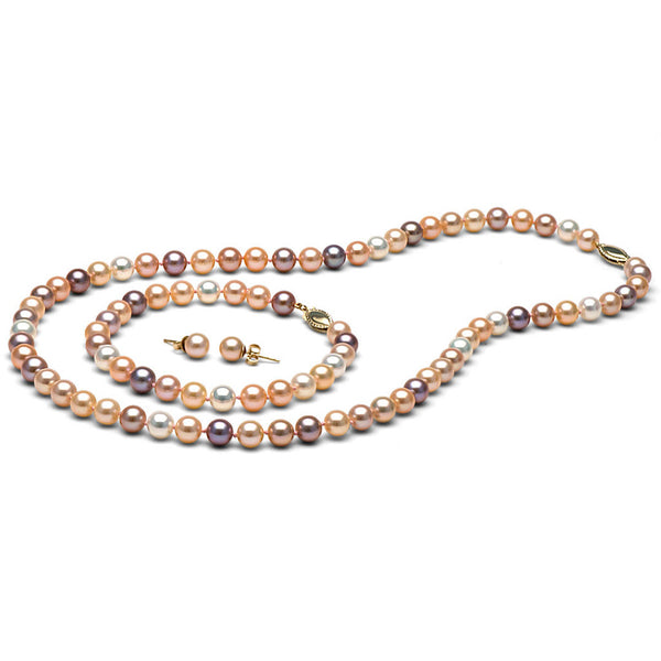 AAA Quality 6.0-7.0mm Multi-Colored Freshwater Orient Pearl Set