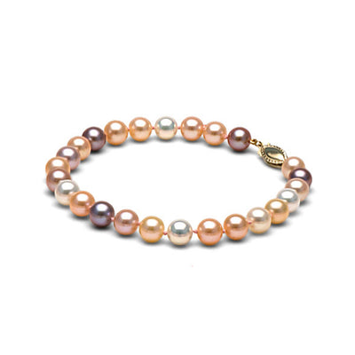 Multi-Color Freshwater Gem Grade Bracelet, 6.5-7.0mm