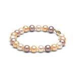 Multi-Color Freshwater Gem Grade Bracelet, 7.5-8.0mm