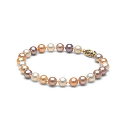 AA+ Quality Multi-Color Freshwater Bracelet, 6.5-7.0mm