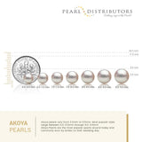 AAA Quality White Akoya Stud Earrings, 6.0-9.5mm