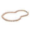 AAA Quality 7.0-8.0mm Natural Peach/Pink Cultured Pearl Necklace