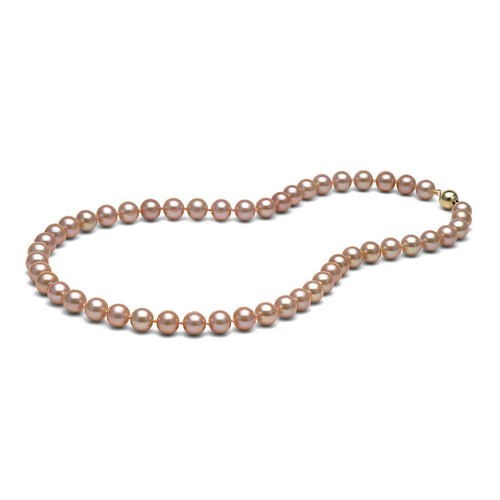 AA+ Quality Pink Freshwater Necklace, 8.5-9.0mm