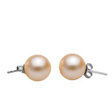 AAA Quality Pink Freshwater Stud Earrings, 6.5-11.0mm