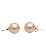 Pink Freshwater Stud Earrings, 6.5-11.0mm