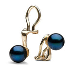 Black Akoya Clip-On Earrings, 6.0-7.5mm