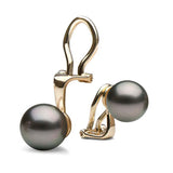 AA+ Quality 8.0-13.0mm Tahitian Pearl Clip-On Earrings