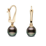 AAA Quality Baroque Tahitian Dangle Earrings, 8.0-11.0mm