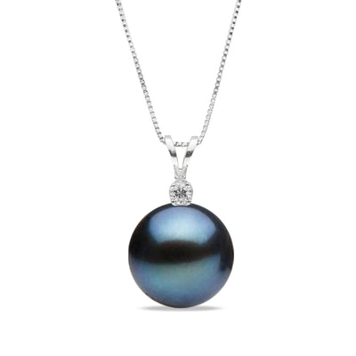 AAA Quality Black Freshwater Victoria Pearl Pendant, 6.5-9.0mm