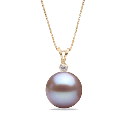 AAA Quality Lavender Freshwater Victoria Pearl Pendant, 6.5-11.0mm