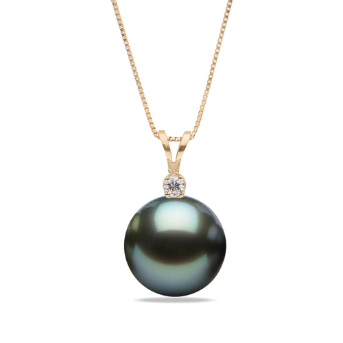 AA+ Quality Tahitian Victoria Pearl Pendant, 8.0-13.0mm