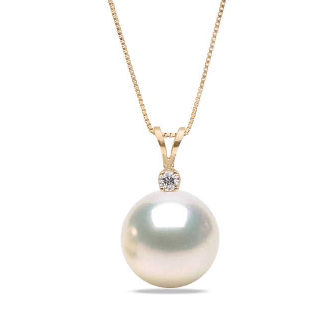 AAA Quality White Freshwater Victoria Pearl Pendant, 6.5-11.0mm