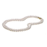 AAA Quality Akoya Double Strand Necklace, 6.0-6.5mm
