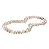 AAA Quality 7.0-7.5mm Akoya Double Strand Cultured Pearl Necklace